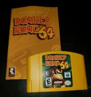 Donkey Kong 64 Nintendo 64 Video Game Authentic & Tested with Manual