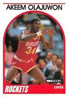1989-90  AKEEM OLAJUWON - Hoops Basketball Card # 180 - HOUSTON ROCKETS