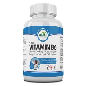 Vitamin B6 50mg Tablets High Strength + Potency Free P&P