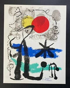 JOAN MIRO  + 1958 BEAUTIFUL SIGNED PRINT + BUY IT NOW!!