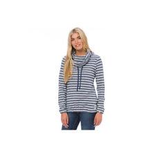 Cotton Blend Striped Hoodies & Sweats for Women