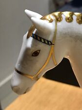 ROYAL CROWN DERBY PAPERWEIGHT Race Horse - Boxed, Gold Stopper, Certificate