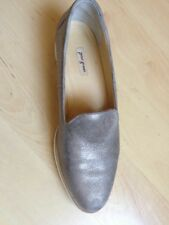 Paul Green Damen Slipper Schuh Gr. 5 1/2 gold metallic weiße Sohle