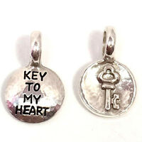 "Brighton Token ""Key"" Charm, JC0100, Silver Finish, New"