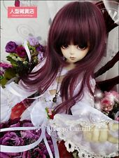 BJD Doll Hair Wig 7-8 inch 18-20cm wine red 1/4 MSD DZ DOD LUTS