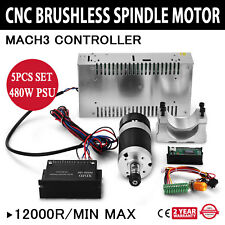 CNC 0.4KW Brushless Spindle Motor Frässpindel & Schaltnetzteil & PWM controller