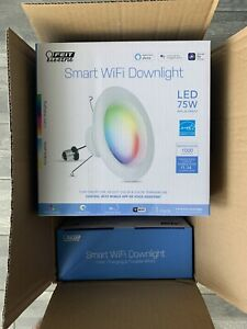 New! Feit Electric. recessed 5-6 in wifi smart lighting. 75watt. 4 pack