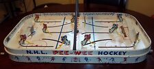 Eagle PEE WEE  Game 1960s  with box  and yellow stick players table top hockey