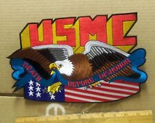 New listing Us Marine Corps - Death Before Dishonor w/ Flag & Eagle Embroidered Back Patch