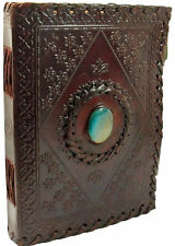 """LARGE Antique Leather Journal-Guest book/Instagram Photo Book -10""""x7""""  Tie close"""