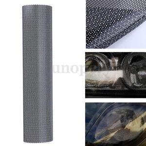 106 x 28 CM Tinting Perforated Mesh Film Fly-Eye Legal Tint Headlight Rea