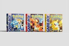 Pokemon Red + Blue + Yellow [Game Boy] Repro Leerboxen | Replacement Boxes | Set