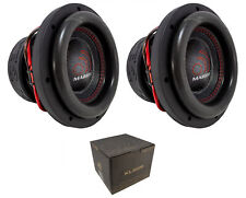 "2 x Massive Audio HippoXL82R 8"" Subwoofer 3600W Dual 2 Ohm Voice Coil Car Audio"