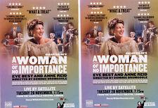 EVE BEST A WOMAN OF NO IMPORTANCE VAUDEVILLE THEATRE CINEMA FLYERS X 2