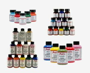 Angelus Acrylic Leather Paint for Sneakers, Shoes, Bags - 85 Colours 1oz/4oz