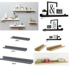 Wooden Floating Wall Shelves Photo Bookcase Ledge Display Rack Dura Shelf