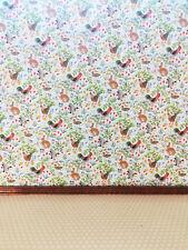 Dollhouse Jackson's Wallpaper Miniature Kitchen Roosters Bunnies Wallpaper 1:12