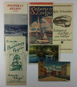 Lot of Vintage Maine ME Paper Brochure Travel Booklet Postcards