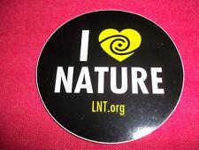 I Love Nature Sticker Decal