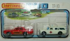 Matchbox Superfast TP-10 DOT DASH Wheels Ambulance & Fire Chief Car MIB RARE