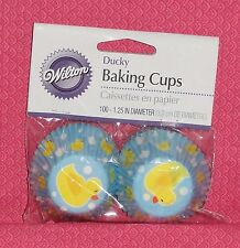 Rubber Ducky,Baby Boy, Mini Cupcake Papers,Wilton,Blue,100 ct.Baby Shower