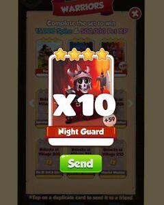 X10 Night Guard  Coin Master Warriors Set Card :- Coin Master
