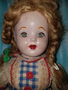 """Vintage 18"""" Composition Unmarked Horsman Doll."""