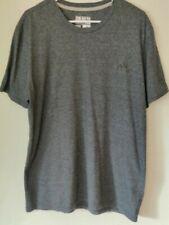 Euc Mens Adidas Xl Go-To Performance Climalite Tee Grey Tonal Logo T Shirt
