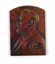 "Belgian bronze medal ""F.DE MYTTENNAERE"" by Alph Mauquoy 1933"