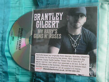 Brantley Gilbert My Baby's Guns N Roses Big Machine Records Promo CDr Single