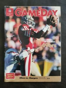 SAN FRANCISCO 49ERS VS CHARGERS 8-27-1987 CANDLESTICK GAME DAY PROGRAM