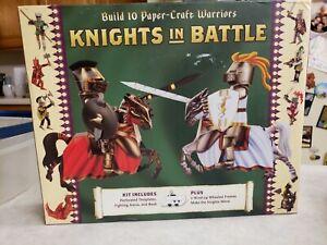 Knights In Battle Kit Build 10 Paper Craft Warriors Sterling Innovation NIB