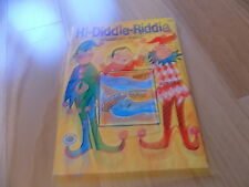 1965 Hi-Diddle-RiddleCOLORING BOOK VINTAGE Treasure Books Unused