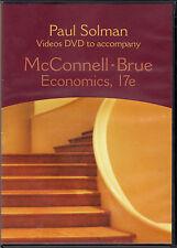 Paul Solman Videos DVD to Accompany McConnell Brue Economics 17e NEW