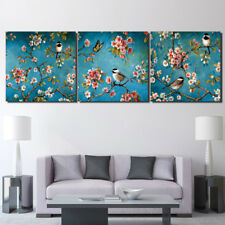 Hand Painted Abstract Chinese art birds flower Oil Paintings On Canvas no framed