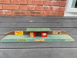 Vintage Wooden Train Platform - Lovely 1950s Item With Vintage Advertising