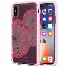 Tech21 iPhone XS & X Evo Check Evoke Edition Silicone Gel Case Cover -Clear Pink
