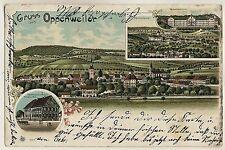OPPENWEILER OA Backnang / Gasthaus Hirsch & Wilhelmsheim * AK um 1900 Litho