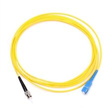 3m SC to St Fiber Optic Singlemode 9/125 Optical Simplex Cable Patch Cord Yellow