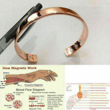 Copper Bracelet Magnetic Healing Bio Therapy Arthritis Pain Relief Bangle Cuff**