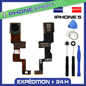 MODULE CAMERA APPAREIL PHOTO ARRIERE FLASH LED POUR IPHONE 5 NEUF + KIT OUTILS