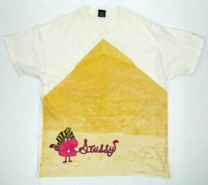 Vintage Stussy Pyramid Egyptian Cartoon Stussy T-Shirt Size Medium Rare