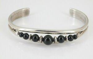 Sergio Lub Sterling Silver Onyx Cuff Bracelet