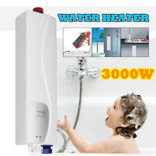 3000W Portable Mini Tankless Electric Shower Instant Kitchen Bathroom Water Heat