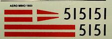 decals 1/43: Aero-Minor Le Mans 1950 N°51