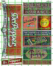 1003 DAVE'S DECALS LG SODA CRACKERS OLD BUILDING SIGNS ADVERTISING PICTURE SHOW