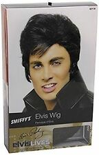Mens Elvis Wig Adults 50s Rock N Roll 1950s Black Quiff Fancy Dress Accessory