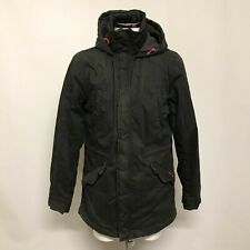Superdry 'The Rookie' Men's Military Parka Jacket XL Black Cotton Hooded 293537