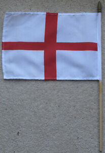 England St George Cross Hand Waving Flag Football Euros Celebration Party