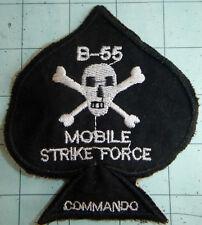 Patch - DEATH'S HEAD - Ace of Spades - MIKE FORCE B-55 - NUNG - Vietnam War - L